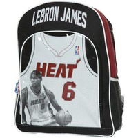 NBA Miami Heat #6 LeBron James Youth Game Time Jersey Backpack