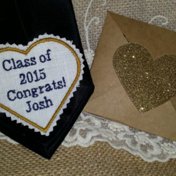 Congratulations! Graduation gift.Rustic Gifts.Dad Gift.Groom Gift.Tie Patch. Embroidered Patch. Tie Patches.Graduation present
