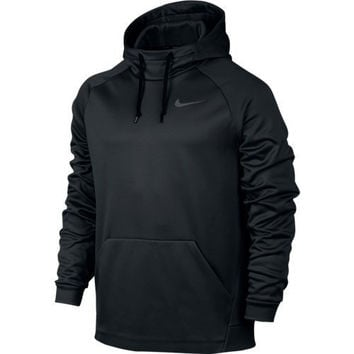 Men's Nike Therma Training Hoodie Black/Dark Grey Size Medium