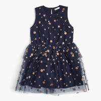 Girls' tulle dress in stars and flowers