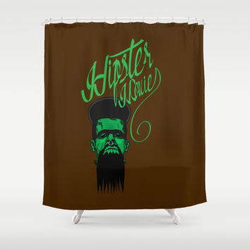 Hipster Movie Shower Curtain by Tony Vazquez