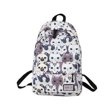 School Backpack trendy Fashion animal Printing Backpack Women School Students Back Pack Female 14-15.6 Inch Laptop Cute Book Bag for Teenager Girls AT_54_4