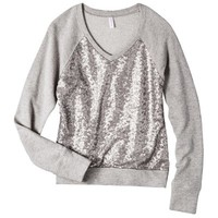 Xhilaration® Junior's Sequin Sweatshirt - Gold