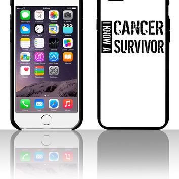 i know a cancer survivor black 5 5s 6 6plus phone cases