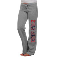 Mississippi Rebels Ladies Frosh Fleece Sweatpants - Ash