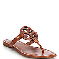 Tory Burch - Miller Leather Cut-Out Sandals - Saks Fifth Avenue Mobile