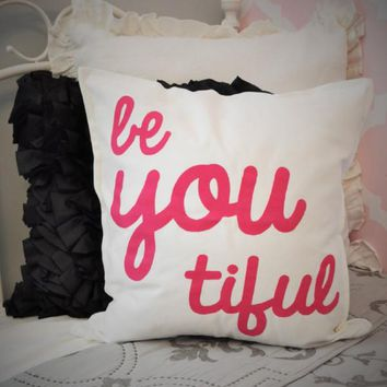 Beyoutiful Pillow Cover