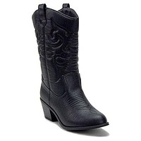 Women's BDW-14 Tall Stitched Western Cowboy Cowgirl Boots