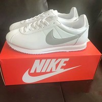 """Nike Cortez"" Men Classic Casual Leather Fashion Running Shoes Retro Sneakers"
