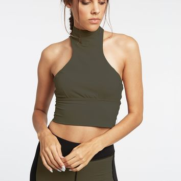Michi Extension Crop Top - Olive