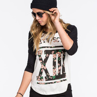 Lira Thirteen Womens Baseball Tee White  In Sizes