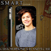 Harry Styles of One Direction 1D Custom For Iphone  by smartcustom