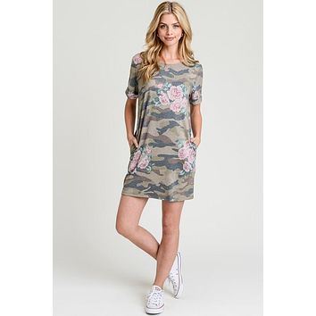 Casual Camo Dress