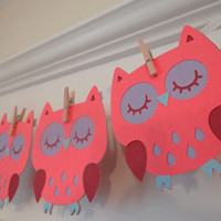 Owl Baby Shower Banner | Pink Purple | Banner | Baby Boy | Baby Girl | Baby Shower | Gender Reveal