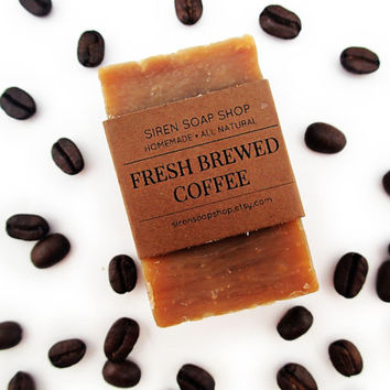 Fresh Brewed Coffee Soap, Coffee, Soap, Handmade Soap