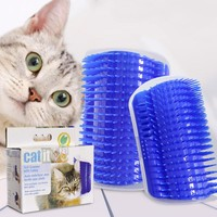 Pet Cat Self Groomer Hair Removal Brush Comb Grooming Tool Dog Cats Hair Shedding Trimming Cat Corner Massage Device With Catnip