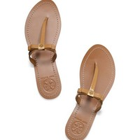 Tory Burch Leighanne Patent Flat Thong Sandal