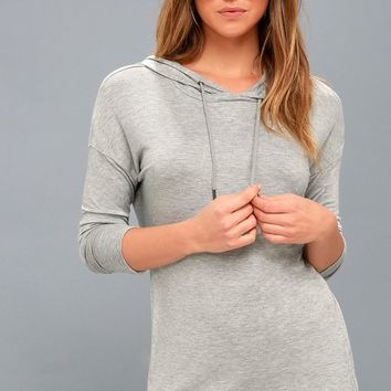 Cadrian Heather Grey Hoodie