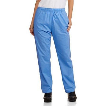 Carol's Scrubs Women's Basic Core Scrub Pants, 1X, Ceil Blue, RN86960