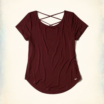 Girls Strappy Back Easy T-Shirt   Girls New Arrivals   HollisterCo.com