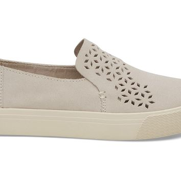 BIRCH PERFORATED SUEDE WOMEN'S SUNSET SLIP-ONS