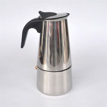 6 cups stainless steel Moka / home office coffee pot / mocha coffee pot / filter / filter coffee maker B1-600