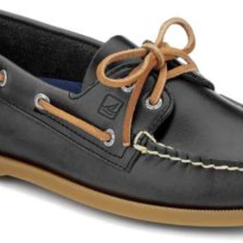 Sperry Top-Sider Authentic Original Cyclone Leather 2-Eye Boat Shoe Gray, Size 9.5M  Men's Shoes