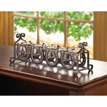 Horseshoe Stars Candle Holder
