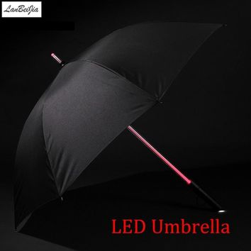 Star Wars Force Episode 1 2 3 4 5 7 Colors LED  Umbrella Golf Umbrella Rain Men Women Light Flash Night Protection Car FlashLight Transparent Umbrella AT_72_6