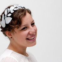 Edinburgh - Floral Crown made with silver leaves