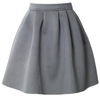 Relaxed Pocket Airy Skirt in Grey Grey