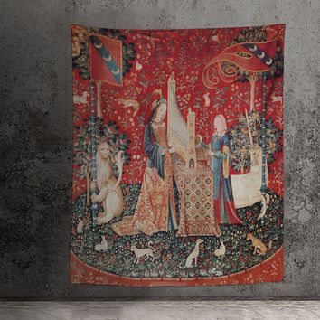 Lady with Unicorn Tapestry - Hearing (Printed)