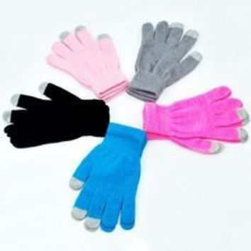 New Soft Winter Unisex Touch Screen Gloves Texting Capacitive Smartphone Knit [8321354055]