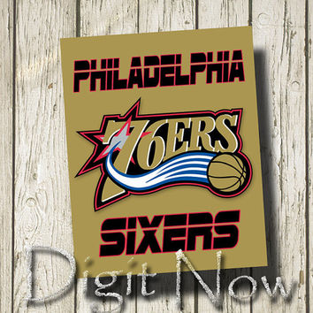 Philadelphia 76ERS SIXERS Sports Team Signs Art Printable Instant Download Home Decor ST004