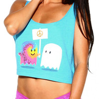 Into The AM Hippie Ghost Rave Festival Crop Top (AM416-1-OS)