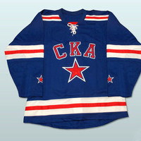 Russia SKA St. Petersburg KHL Hockey  jersey  Any Name Any Number All Stitched and Sewn  New XS-3XL