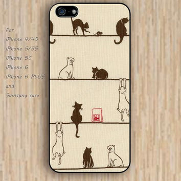 iPhone 5s 6 case cartoon Mouse cat dream catcher life colorful phone case iphone case,ipod case,samsung galaxy case available plastic rubber case waterproof B563