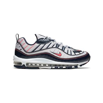 Nike Men's Air Max 98 NYC White Silver Bright Crimson