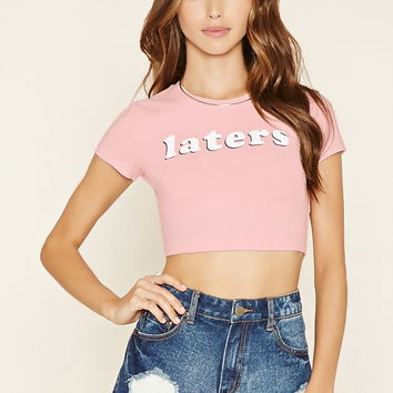 Laters Crop Top | Forever 21 - 2000178481