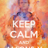 """Keep Calm and Allons-y"" Poster"