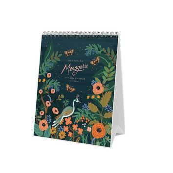 RIFLE PAPER CO 2019 MIDNIGHT MENAGERIE DESK CALENDAR