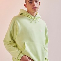 Champion Reverse Weave Lime Hoodie Sweatshirt | Urban Outfitters