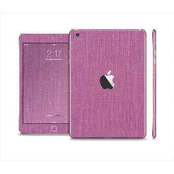The Purple Fabric Texture Skin Set for the Apple iPad Mini 4