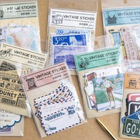 24pc/box Travel the world series paper sticker DIY diary scrapbooking gift cards decoration sticker children's kawaii stationery