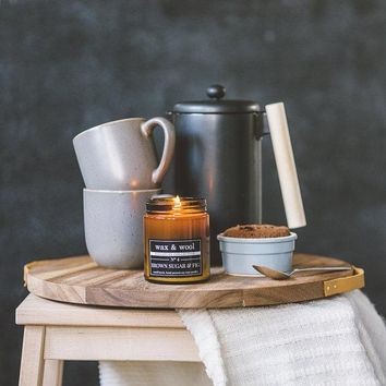Brown Sugar and Fig - 9 oz Pure Soy Wax Candle