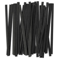 Black Paper Twist Ties