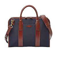 Fossil Landon Small Top Zip Workbag - Navy