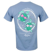 Lily Grace Baby Turtles T-Shirt - Blue