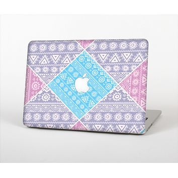 "The Squared Pink & Blue Textile Patterns Skin Set for the Apple MacBook Pro 13"" with Retina Display"