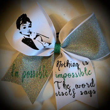 Quote Glitter Bow-CHEER Bow